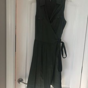 White House Black Market Dresses - Ladies Olive Green wrap dress worn once